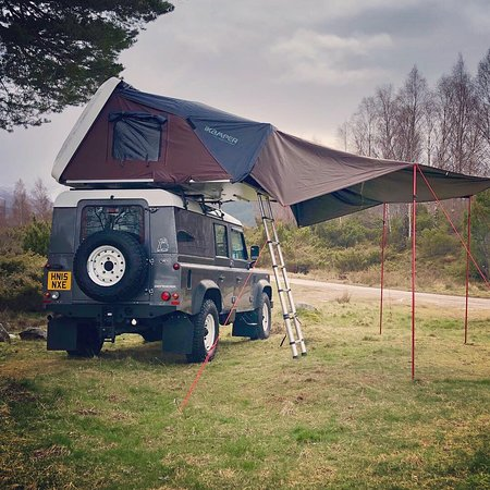 Highland Defenders: iKamper roof tent with optional awning