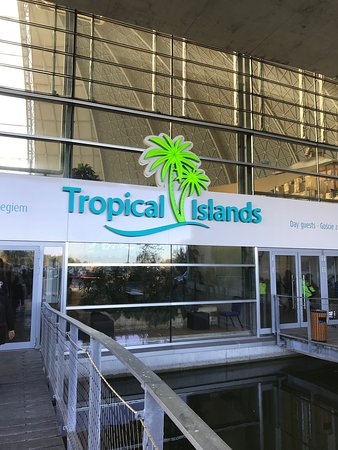 Tropical Islands: Entrance to the building.