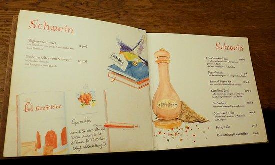 Stadthotel & Restaurant Kachelofen: menu - pork dishes