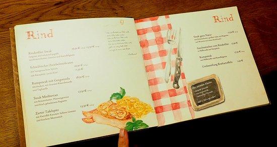 Stadthotel & Restaurant Kachelofen: menu - beef dishes
