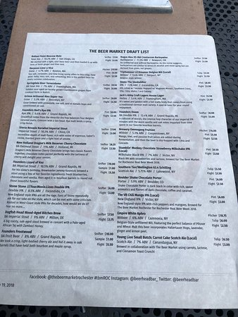 Beer menu where to start?