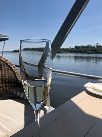 A great setting and relaxing boat