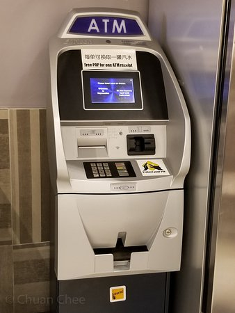 ATM machine - get a free pop with a ATM receipt - Picture of