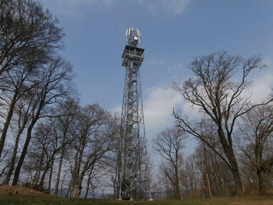 Csehország: Rozhledna Janov - obec Janov u Hřenska