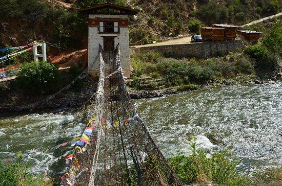 Tachogang Lhakhang Bridge: Tacho Lhakhang bridge www.worldtourplan.com