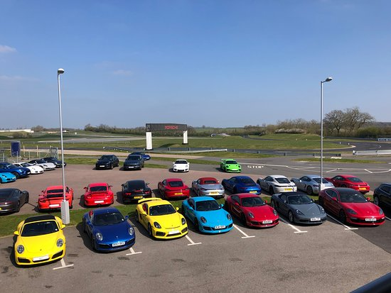 Porsche Experience Centre: A selection of the cars available.