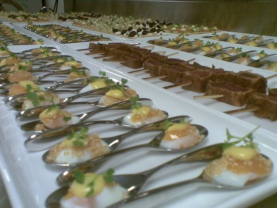 Greater Sydney, Australia: Half cooked quail eggs in common wealth Bank Sydney Experience back in 2012 followed by Pan seared Yellow fin Tuna, Corn Frittas and numerous other Canape.