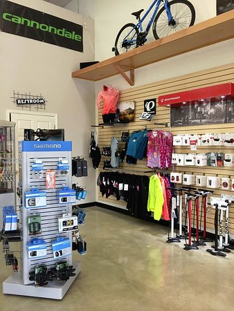 Come check out all the great brands we carry.  Trek, Cannondale, Santa Cruz, FIT BMX, as well as great accessory brands like Fizik, Bontrager, Shimano, Pearl Izumi, Sugoi, Terry, and more!