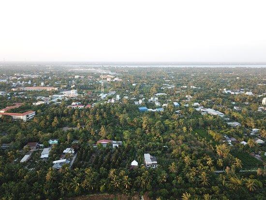 Gite Nam Hien: Vista aérea de la zona del hotel