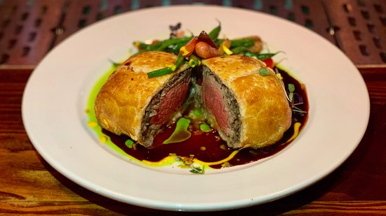 Benicia, CA: Beef Wellington is our signature dish.