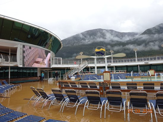 Radiance of the Seas: Movie screen we never watched!