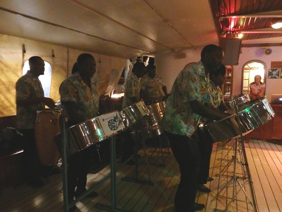 Royal Clipper: Local steel drum band - Grenada