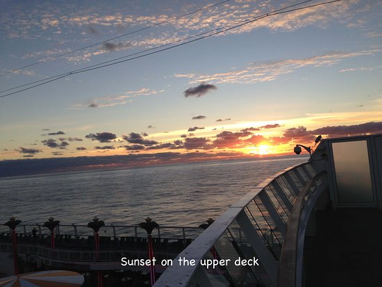 Norwegian Dawn: Sunset from our upper deck