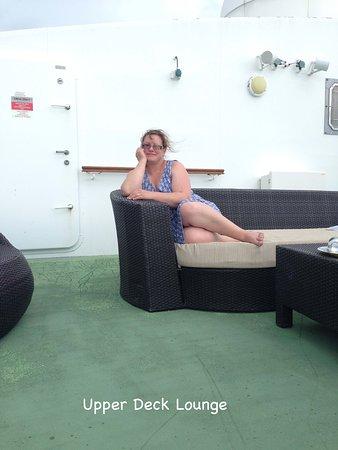 Norwegian Dawn: Ali (IslandGirl247) lounging on the upper deck