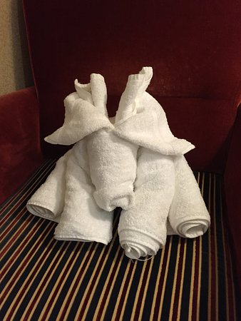 Brilliance of the Seas: cute log towel creature
