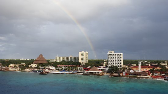 Brilliance of the Seas: Rainbow over Cozumel as we were leaving port
