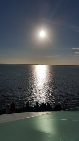 Brilliance of the Seas: Sunset as we were leaving port of tampa