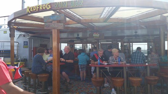 Carnival Conquest: Red frog.