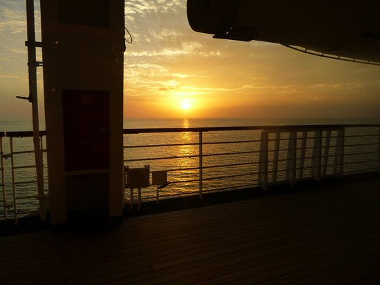 Carnival Conquest: The view from our table in the Renior dining room!