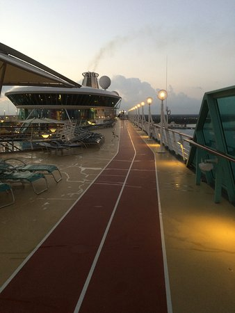 Vision of the Seas: The running track on deck 10