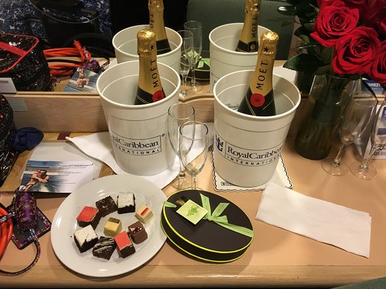 Vision of the Seas: Candies, pastries and champagne were all provided by our friends through RC