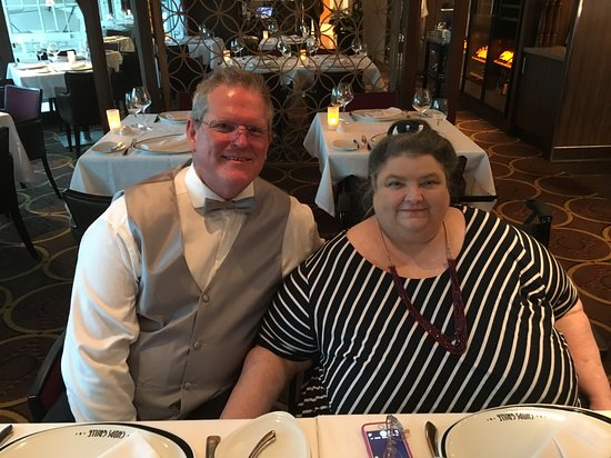 Vision of the Seas: We enjoyed a special dinner in Chops Steakhouse.