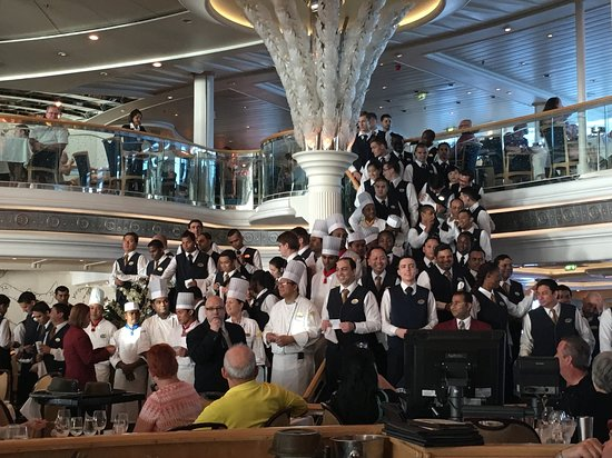 Vision of the Seas: We loved all of the wait staff and really enjoyed their farewell performanc