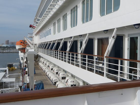 Carnival Imagination: The balconies from deck 11.