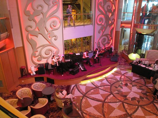 Brilliance of the Seas: The Centrum. I was a busy place. Listened to some beautiful music