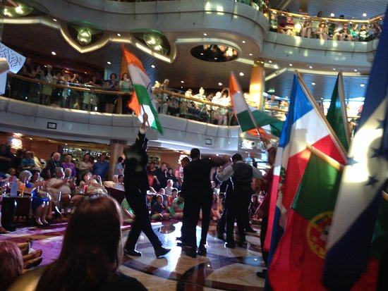 Vision of the Seas: Parade of flags