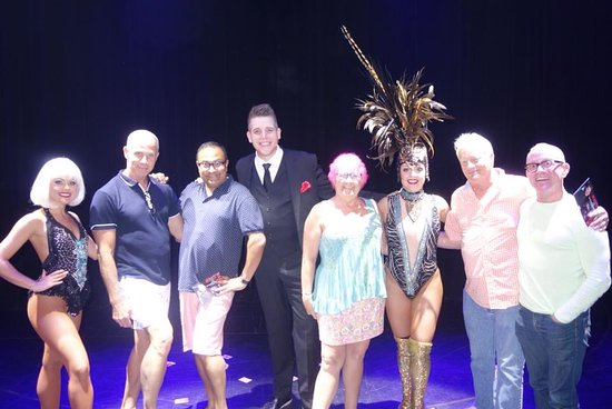 Carnival Triumph: On stage with friends and some cast