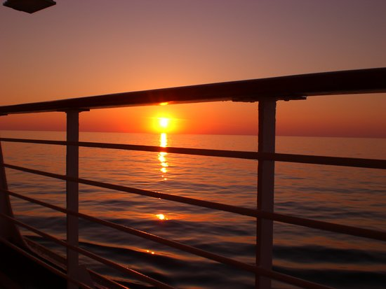 Carnival Victory: Sunset on last night on ship