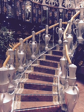 """Carnival Legend: """"urn"""" staircase"""