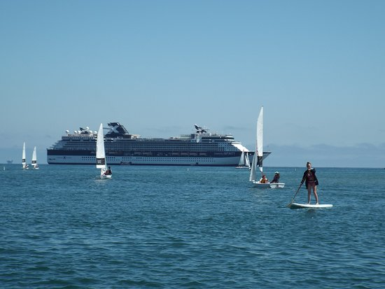 Celebrity Infinity: Infinity at anchor off Santa Barbara