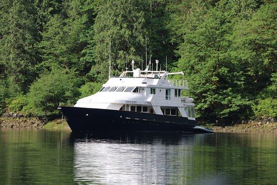 Safari Quest at anchor, Princess Louisa Inlet