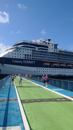 Celebrity Summit: This was my first cruise on Celebrity cruise line.  I was very impressed with the service and amenities.  The ports were amazing, Tortola, St. kitts, Martinique, Dominica, and St. Thomas.  We visited the Baths at Virgin Gorda with Patouche tours, Roseau Valley Treasures with Bumpiing tours in Dominica, Salinas beach in Martinique