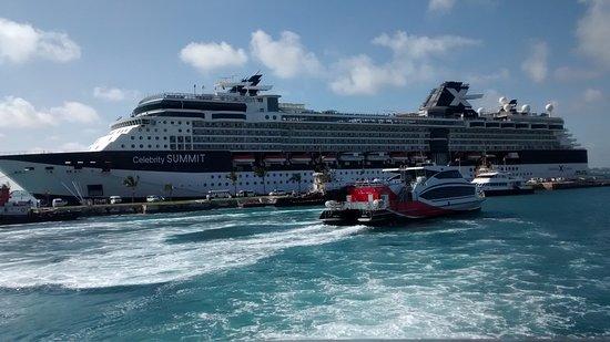 Celebrity Summit docked at King's Wharf in Bermuda.