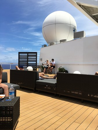 Celebrity Summit: Listening to music on the Rooftop Terrace