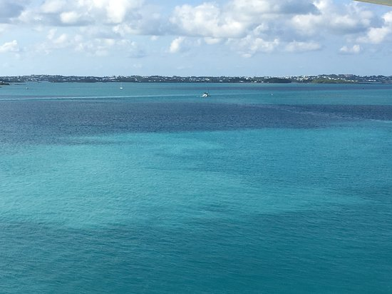 Celebrity Summit: View from the balcony (cabin 9036) while docked in Bermuda