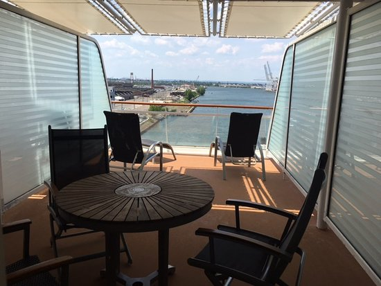 Celebrity Summit: Aft Cabin Balcony - Spacious with good mix of sun and shade