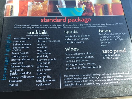 Celebrity Summit: Beverage Package - Standard