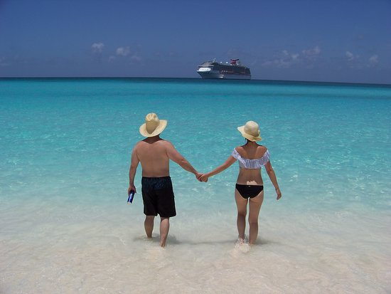 Carnival Pride: Daughter and new son-in-law at Half Moon Cay