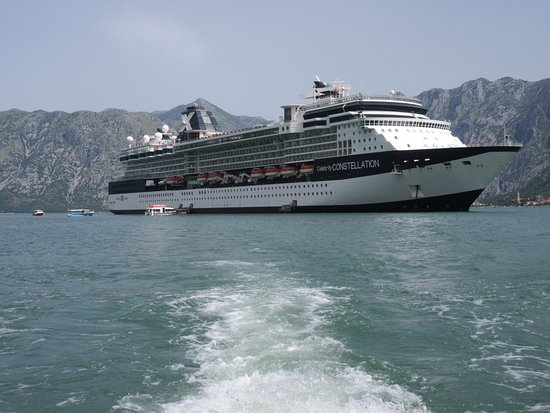 Celebrity Constellation: View of ship as we returned from Monenegro Port by boat