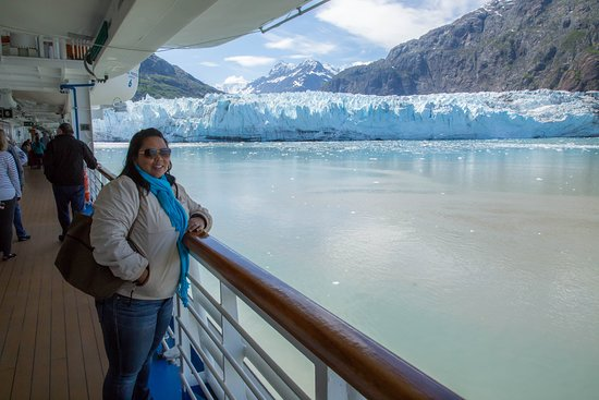 Star Princess: Margerie Glacier from Deck 7 Promenade