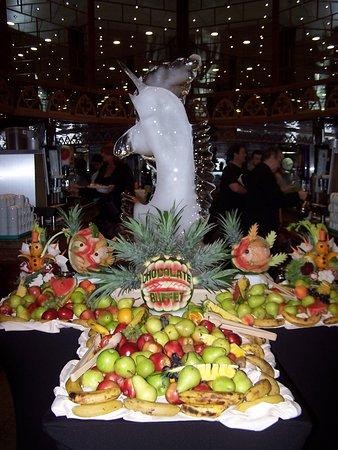 Carnival Legend: Chocolate buffet display