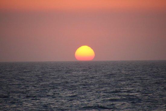 Wind Star: Sunset over the Aegean Sea