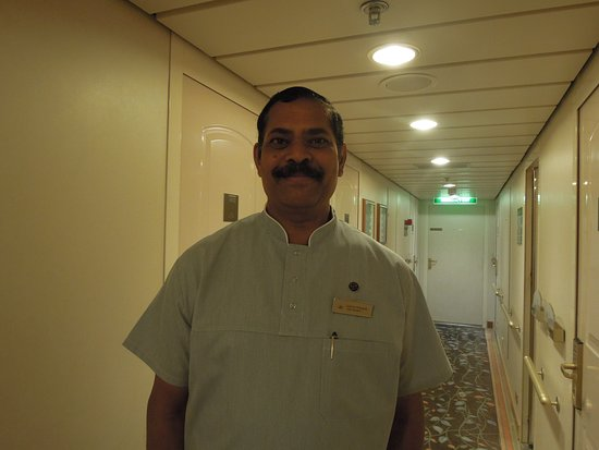 Oriana: Our fantastic Cabin Steward - Dominic Rodrigues from Goa. His hospitality,