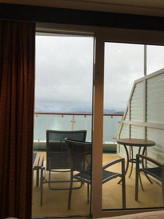 Radiance of the Seas: Aft balcony! Huge!