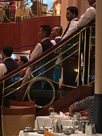 Radiance of the Seas: Main dining room, entertainment by wait staff!  Great!