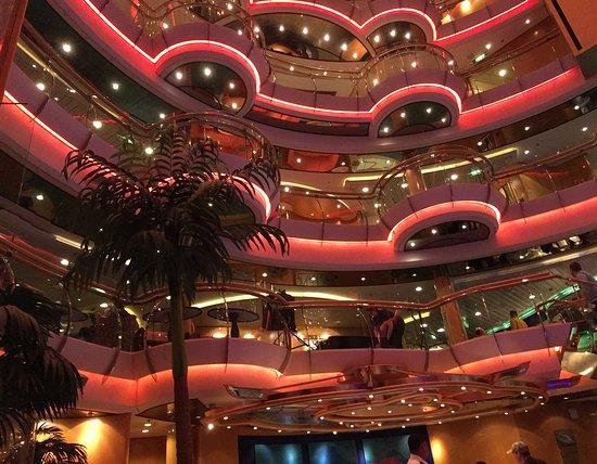 Radiance of the Seas: Main floor of ship!  Beautiful!
